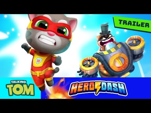 ⚡ Fight The Raccoons! Talking Tom Hero Dash (NEW GAME Official Trailer) ⚡