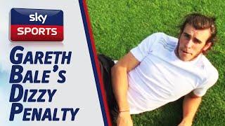 Gareth Bale takes a Dizzy Penalty for #dizzygoals