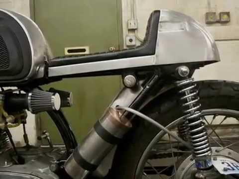 cafe racer honda cb77 - youtube