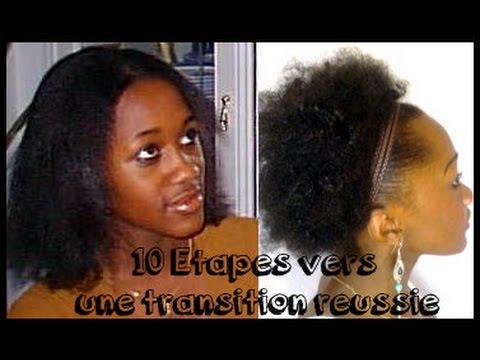 Transition cheveux defrise au naturel