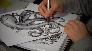 Timelapse of Octopus Drawing