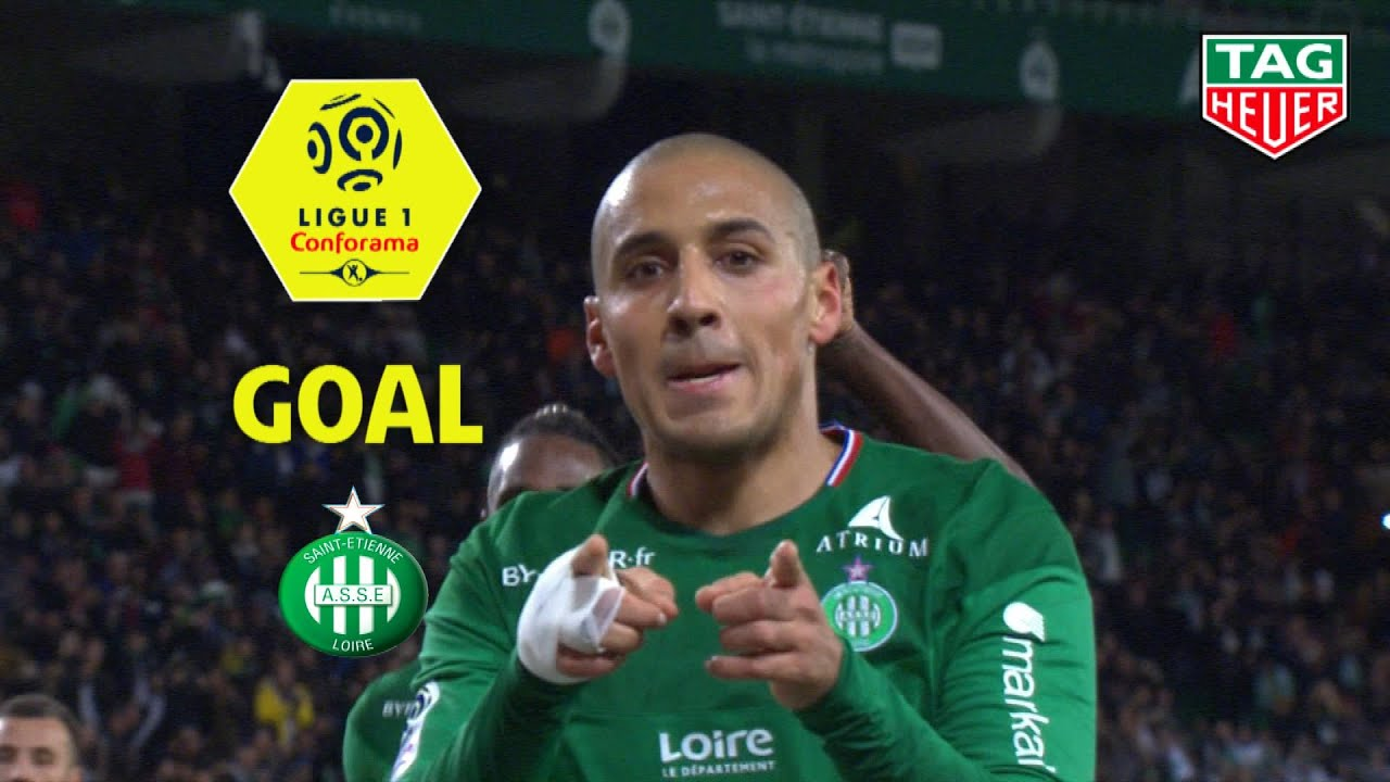 goal wahbi khazri 34 pen as saint etienne nimes olympique 2 1 asse nimes 2019 20