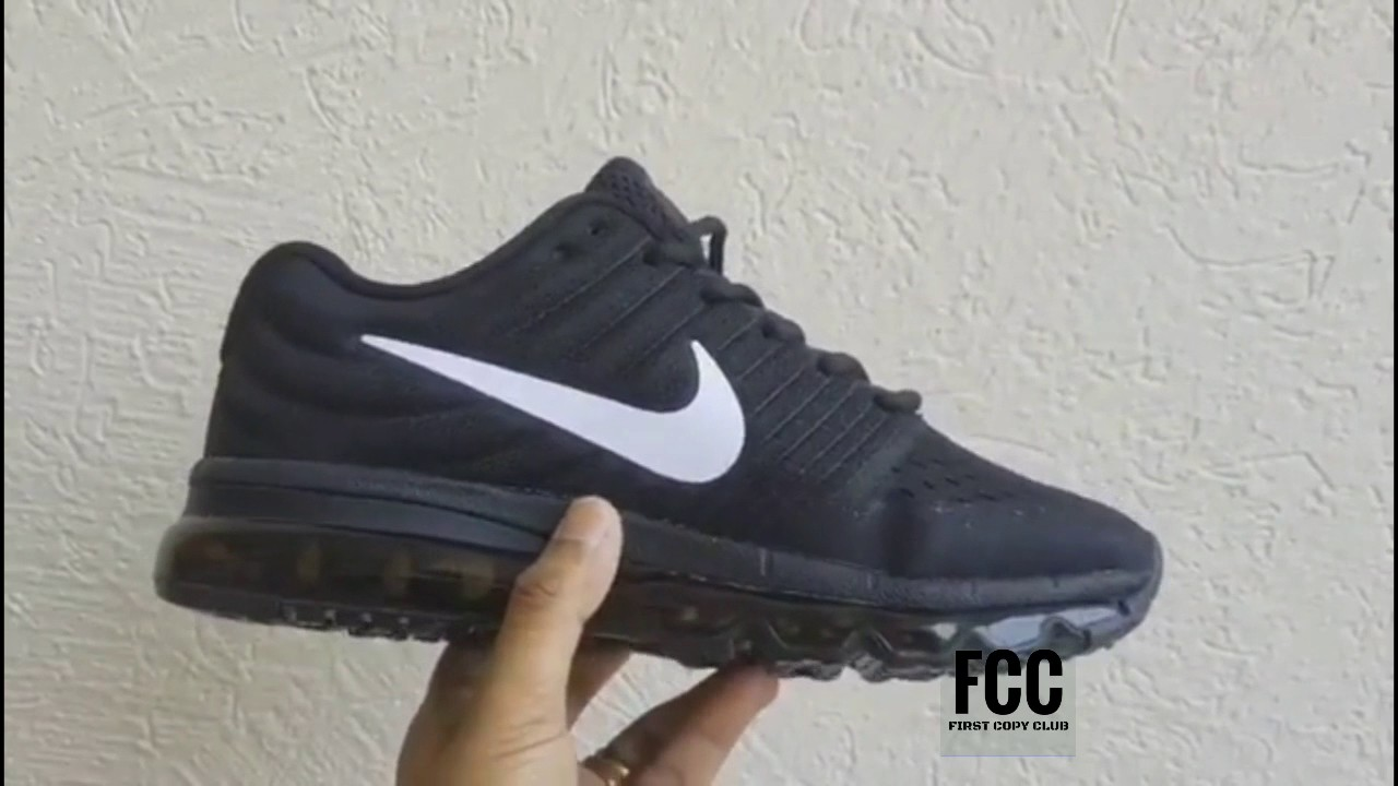 performance sportswear 2018 sneakers price reduced how to buy Nike AirMax Black Replica or Fake - YouTube