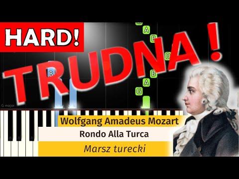 🎹 Marsz Turecki (Rondo Alla Turca, W. A. Mozart) - Piano Tutorial (TRUDNA! wersja) 🎹