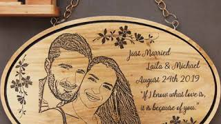 Romantic Wedding Gifts For Couples | Express Love Carved In Wood | Woodgeek Store