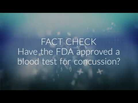FACT CHECK: Have the FDA approved a blood test for concussion?