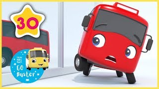 Buster Changes Color! | GoBuster Official | Vehicle Nursery Rhymes |  ABCs and 123s
