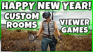 CUSTOM ROOMS & VIEWER GAMES HAPPY NEW YEAR!! | PUBG MOBILE