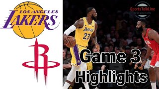 Lakers vs Rockets HIGHLIGHTS Full Game | NBA Playoff Game 3