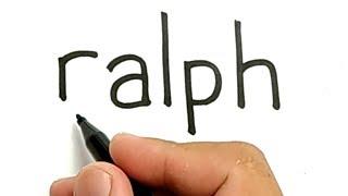 WOW, cara menggambar kata RALPH menjadi KARTUN RALPH BREAKS THE INTERNET untuk anak
