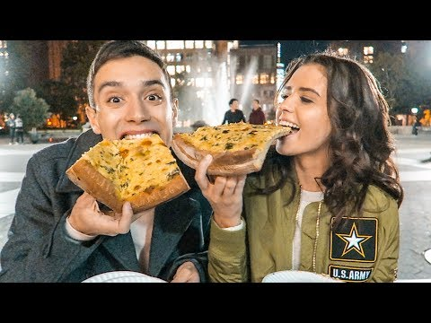 MY AUSTRALIAN WIFE TRIES NEW YORK PIZZA