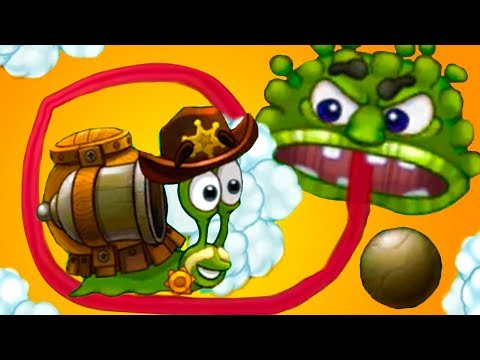 УЛИТКА БОБ 3 и Кид #3 Языкастый лизун в Snail Bob - мультяшная игра про улитку на канале пурумчата