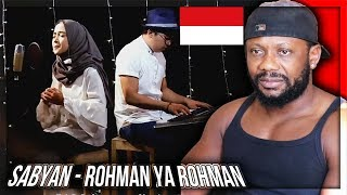 ROHMAN YA ROHMAN COVER BY SABYAN INDONESIAN MUSIC REACTION