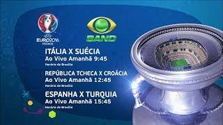 UEFA Euro 2016 - Itália x Suécia, República Tcheca x Croácia e Espanha x Turquia (17/06/2016)