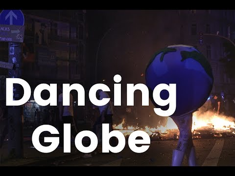 G20 Protests: Dancing Globe Girl