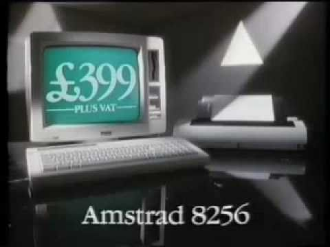 Amstrad 8256 Word Processor TV advert