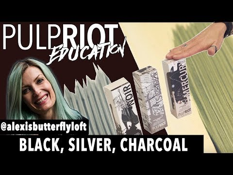 Pulp Riot Hair Color - Black, Silver, Charcoal color Tutorial
