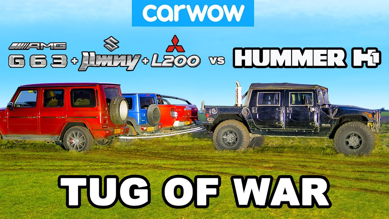 Download Hummer H1 vs G63 + Jimny + L200: TUG OF WAR!