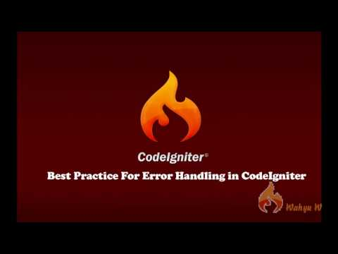 CodeIgniter Tutorial : Best Practice for Error Handling in Codeigniter