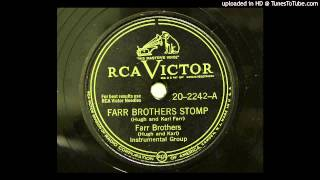 Farr Brothers (Hugh and Karl) - Farr Brothers Stomp (RCA Victor 2242) [1947 hillbilly jazz]