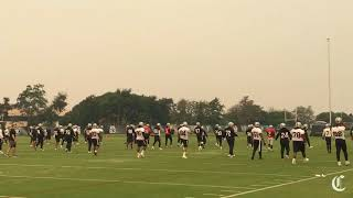 Raiders shorten practice due to air quality