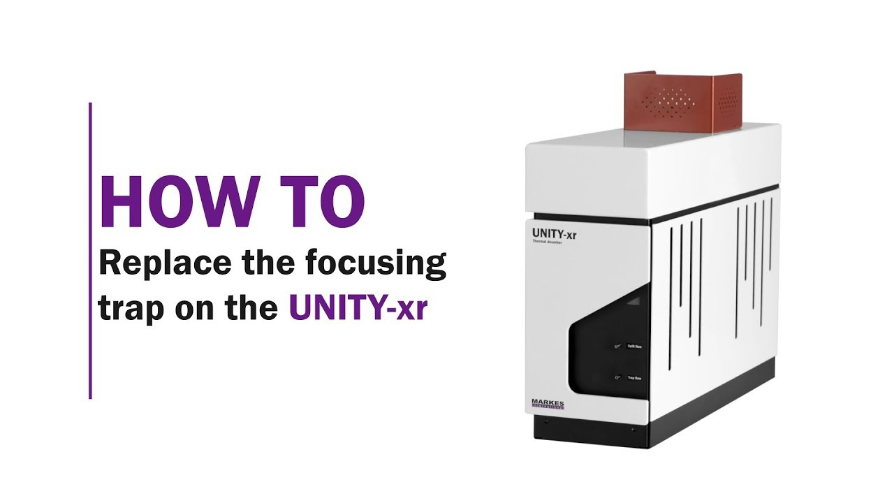 How to replace the focusing trap on the UNITY-xr