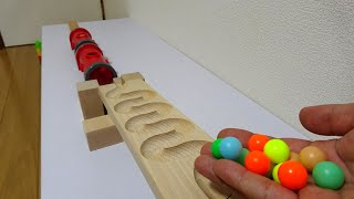 Marble Run Wooden Tunnel ASMR Healing Video