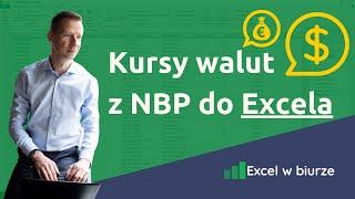 Kursy walut NBP w Excelu (dane bieżące)