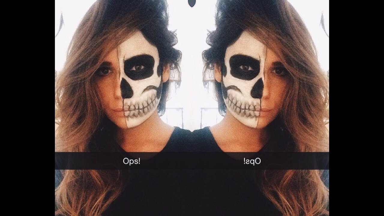 Half Skull Makeup! - YouTube