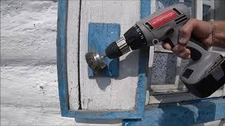 Сделал ремонт фасада,обновил  дом в деревне. покраска  стен и окон .влоги