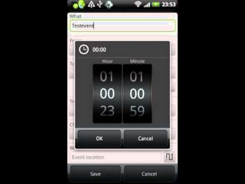 foobarblog 2 0 » Android App: Calendar Event Reminder