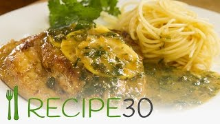 Chicken Piccata A Velvety Zingy Lemon Butter Chicken With Capers - Recipe By Www.recipe30.com