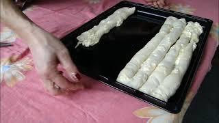 Свекровь делает Бурек / Штрудель с творогом (по-турецки çarşaf böreği). Пальчики оближешь!
