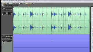 Samplitude 11 Pro - Audio to Midi Groove Template Creation