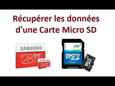 récupérer données carte sd endommagée gratuit Comment récupérer les données d'une carte micro SD   YouTube