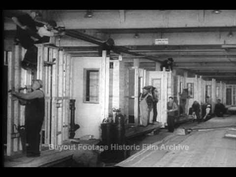 Historic Archival Stock Footage – New Aluminum Houses to Ease World Shortage