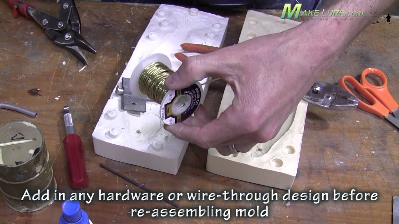 MakeLure - Molding a Real Fish - Gizzard Shad Muskie Lure