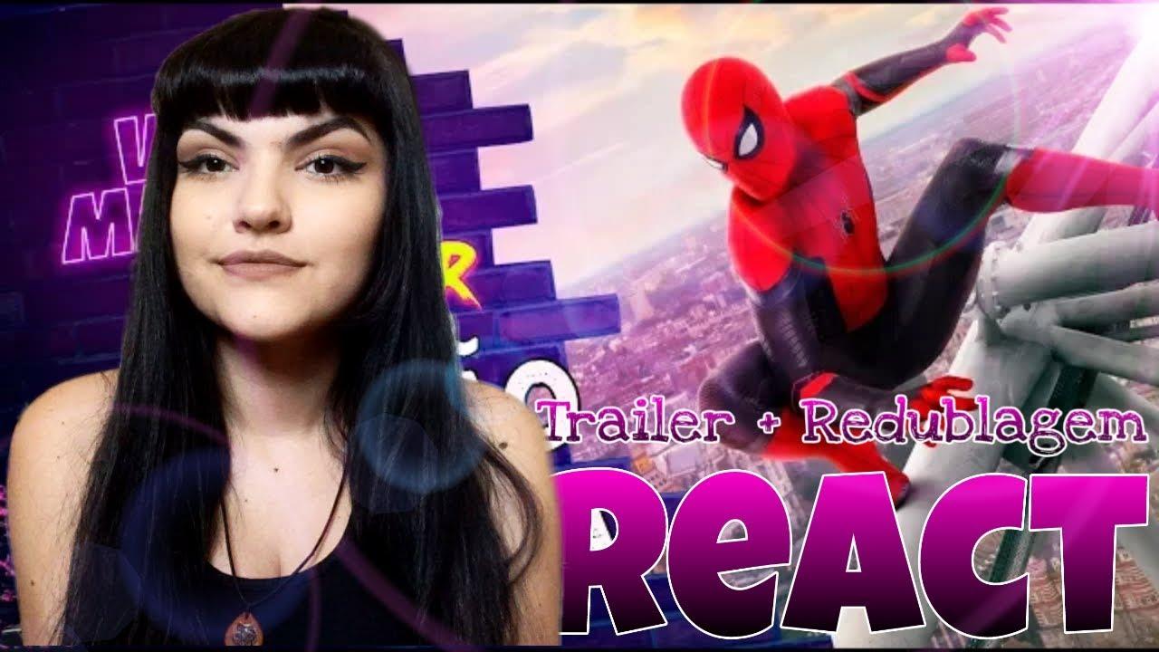 | REACT 2 EM 1 | Homem-Aranha -  Longe de Casa | Trailer 2 + Redublagem (Voice Makers)