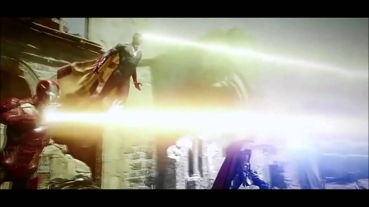 Avengers Age of Ultron Iron Man, Thor, Vision vs Ultron HD