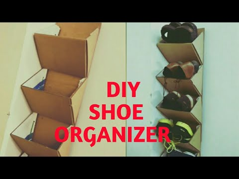 How to reuse waste boxes-Diy shoe Rack /organizer by Mr N