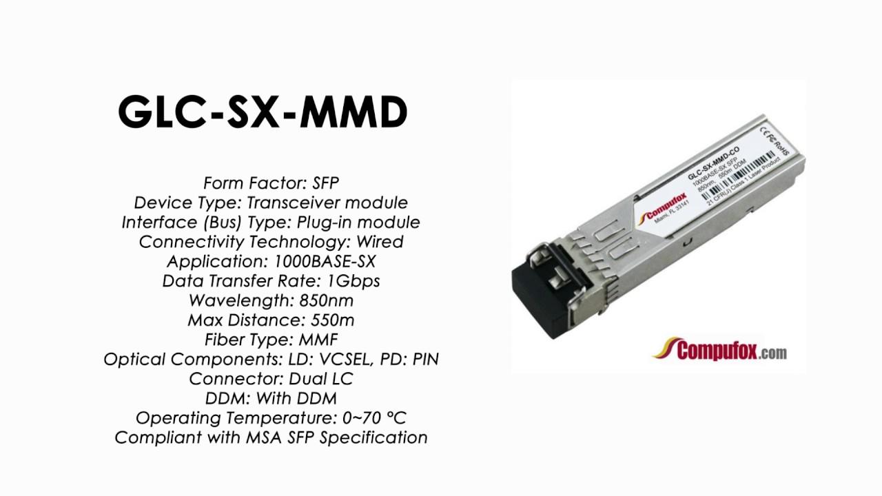 GLC-SX-MMD | Cisco Compatible 1000BASE-SX SFP MMF 850nm 550m DDM