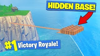 Building A *SECRET BASE* In Fortnite Battle Royale!