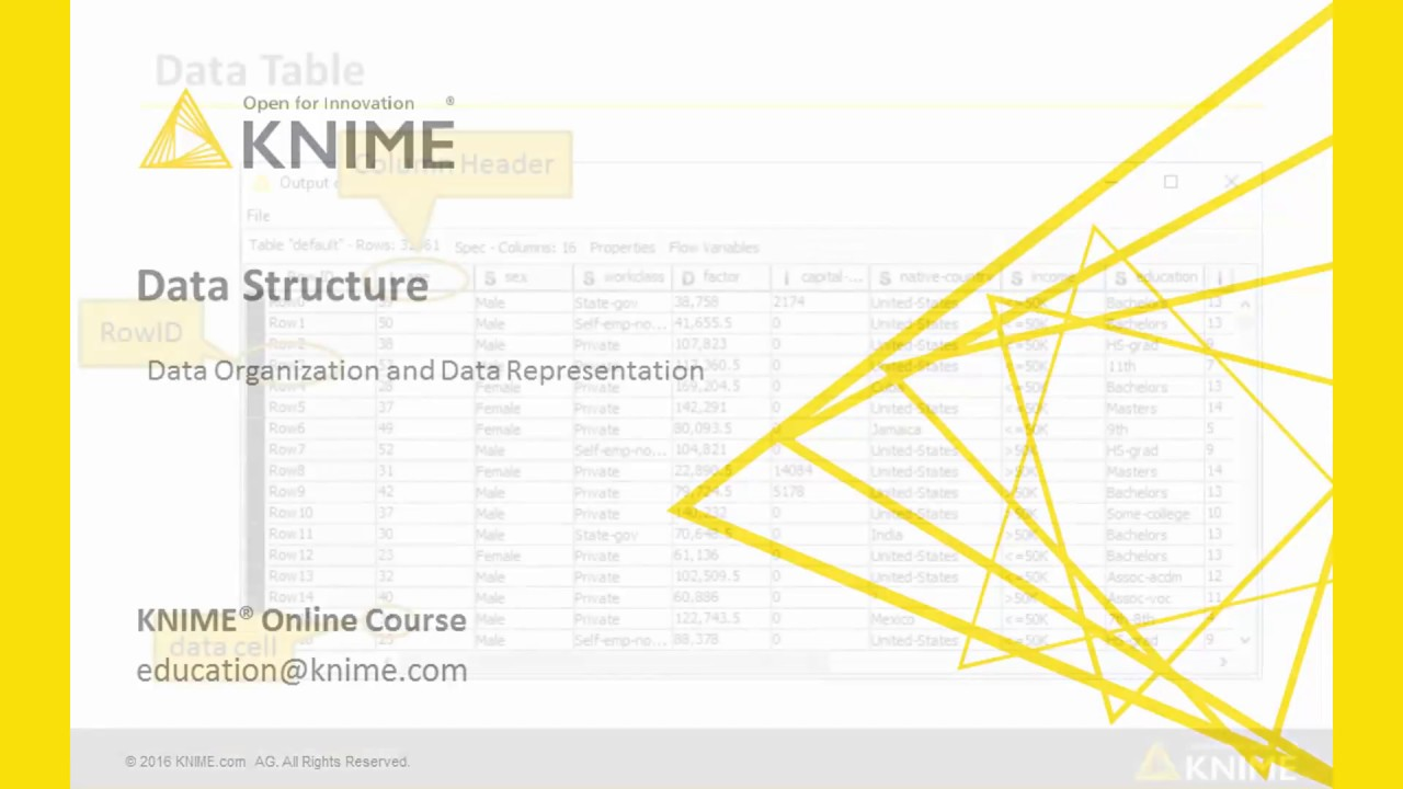 Data Table Structure | KNIME