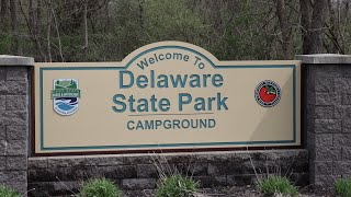 Camping at Delaware Stąte Park//Rain and Awning Troubles!