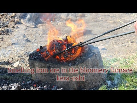From ore to tanto knife - Part 2: Smelting iron ore in the bloomery, kera-oshi - knifemaking