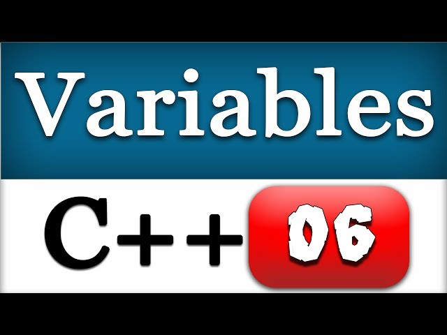 06   Creating and Using C   Variables   CPP Programming Video Tutorial - YouTube