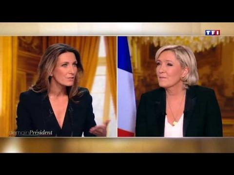 TF1 retire un drapeau de l'Union européenne à la demande de Marine Le Pen
