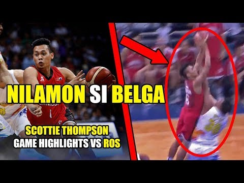 SCOTTIE THOMPSON HINDI MAPIGILAN NG ROS | Scottie Thompson Highlights vs Rain or Shine
