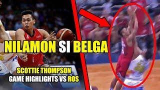SCOTTIE THOMPSON HINDI MAPIGILAN NG ROS   Scottie Thompson Highlights vs Rain or Shine