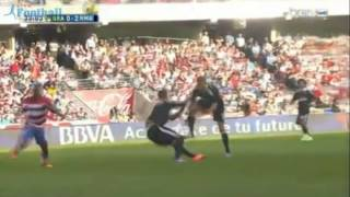 Pepe kick Sergio Ramos Stomach Real Madrid vs Granada 11/1/14